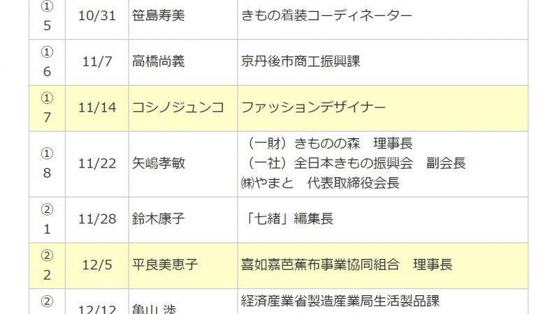 講演情報:早稲田大学 きもの学 2020/1/30